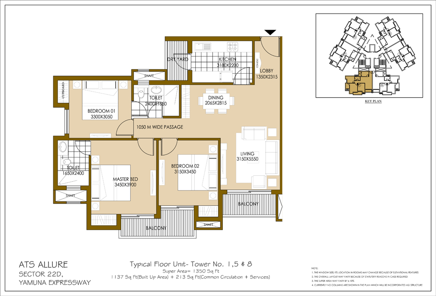Unit Plan-B-1350 Sq Ft